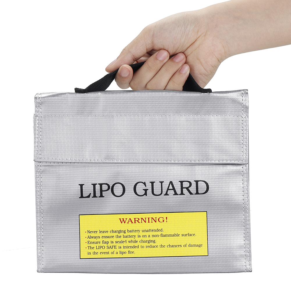 Explosion-proof Waterproof Lipo Battery Safety Protective Storage Bag Sliver 215*45*165mm for RC Battery