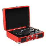 Phonograph Turntables Record Player Retro Vinyl Audio USB bluetooth Speaker Suitcase 33/45/78 RPM Record Player with Built-in Speakers