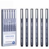 Deli 6pcs Hook Line Pen Set Fine Hand Painted Thin Paint Pen Brush Painting Art Supplies Student Supplies