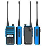BAOFENG X3-Plus 18W 9500mAh Walkie Talkie 20 KM Tri-band Radio Waterproof UHF/VHF 9500mah Transceiver 76-108MHz Radio Transmitter Blue with Flashlight