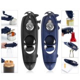 8 in1 Can Lid Opener Safety Manual Opener Smooth Edge Household Kitchen Bar Tool