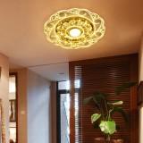 9W 90-260V Crystal LED Ceiling Light Fixture Pendant Lamp Lighting Chandelier for Bedroom Living Room Corridor