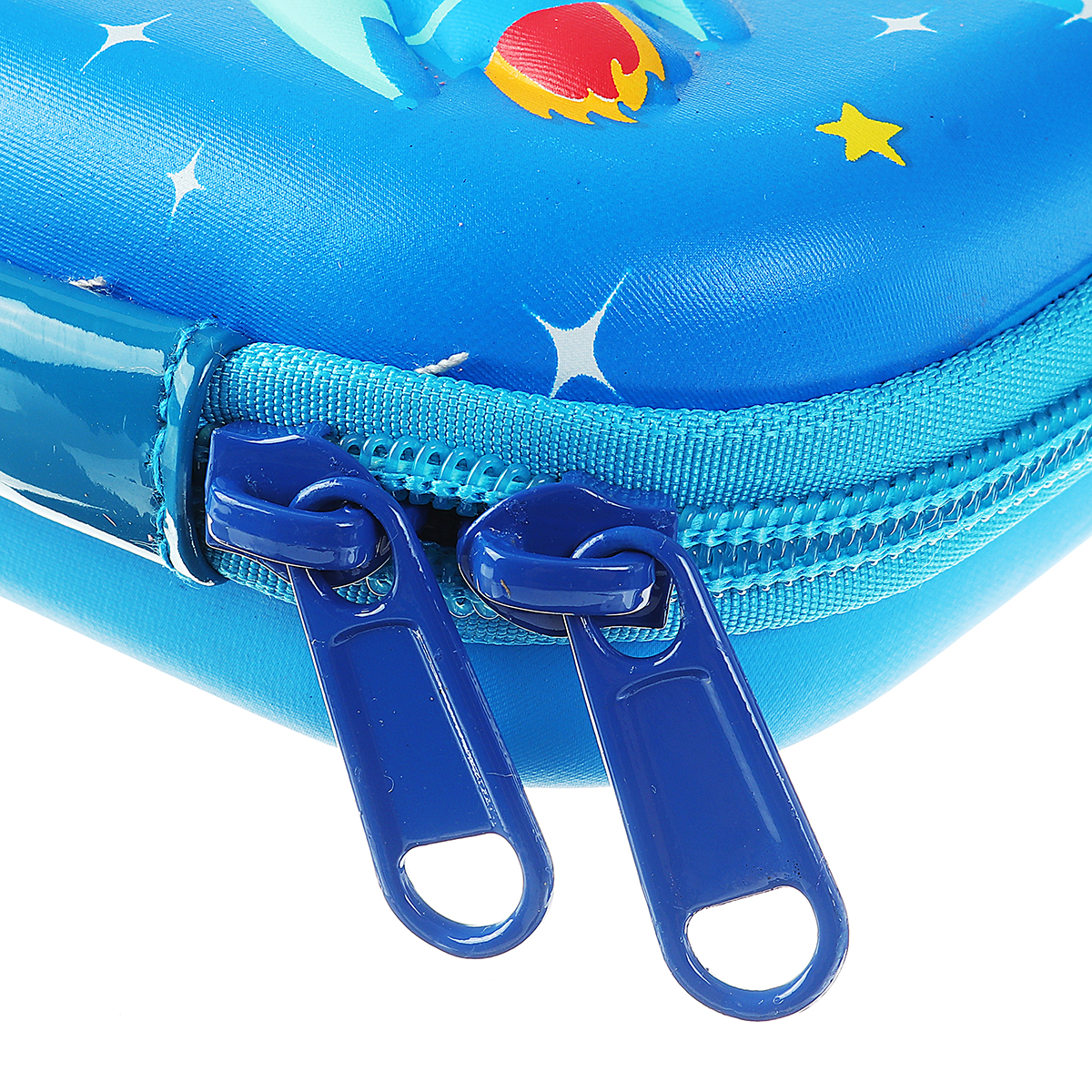 EVA Double Layer 3D Pencil Case Stationery Case Large Capacity Waterproof Cartoon Color Spaceship Pencil Bag for Children