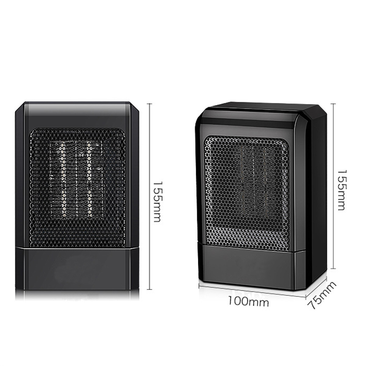 500W Portable Electric Heater Desktop Warmer Machine PTC Ceramic Heating Household Heating Stove for Home Office