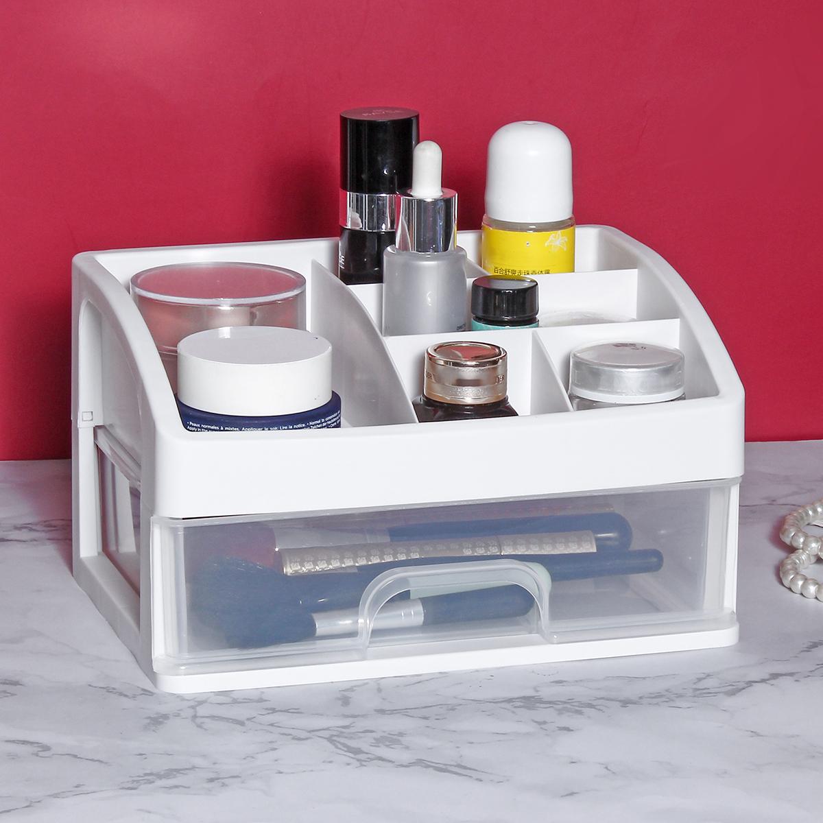 1/2/3 Layers Transparent Cosmetics Storage Box Drawer Storage Box Desktop Makeup Organizer Lipstick Powder Display Box