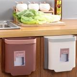 Hanging Kitchen Trash Bin Waste Bin Cabinet Door Wall Mounted Folding Kitchen Cleaning Garbage