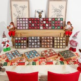 16PCS/Box Christmas Tree Decor Ball Bauble Xmas Party Hanging Ball Ornament Decorations for Home Christmas Decorations Gift