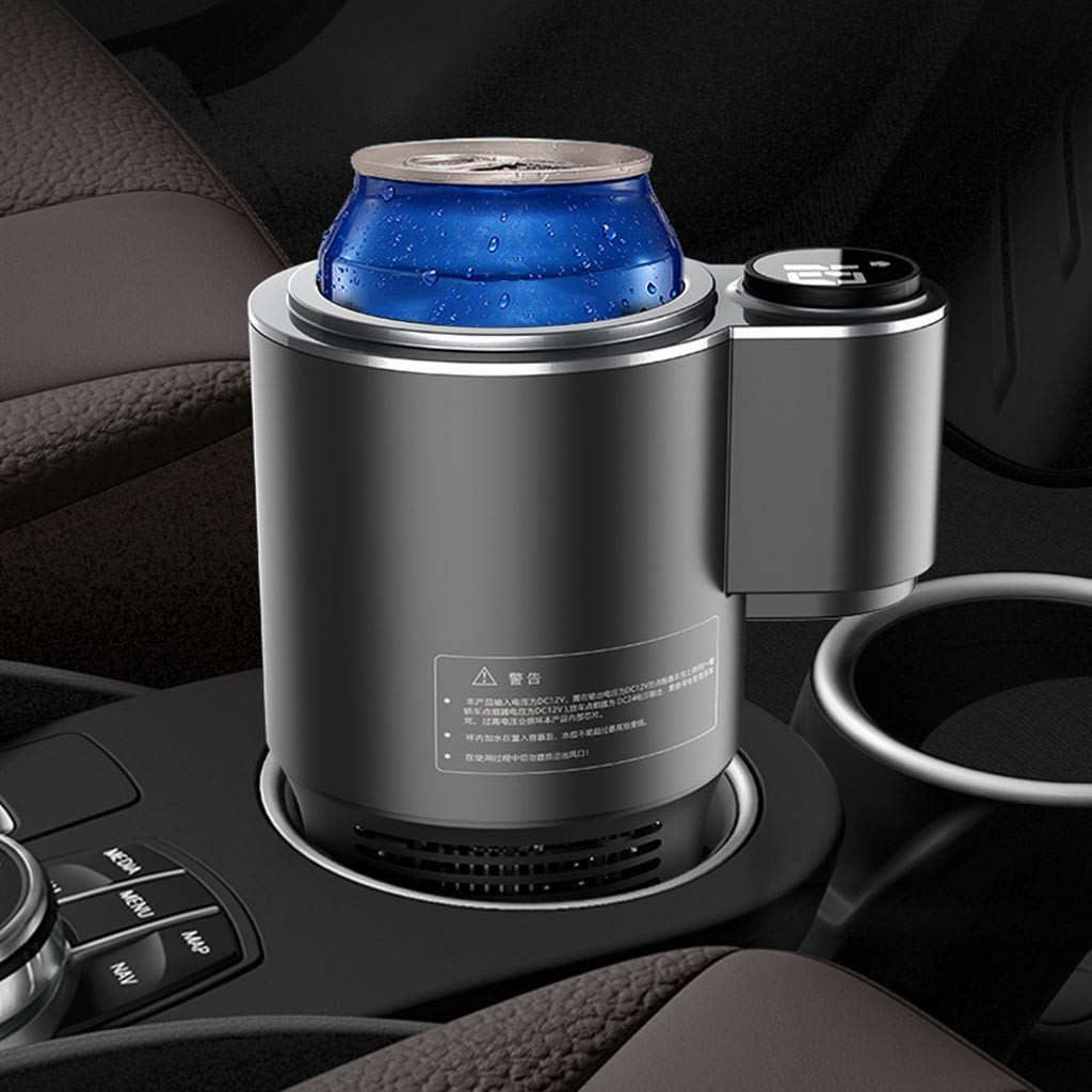 Bakeey 12V Car Heating And Cooling Cup Stainless Steel Travel Electric Vehicle Heating And Cooling Cup