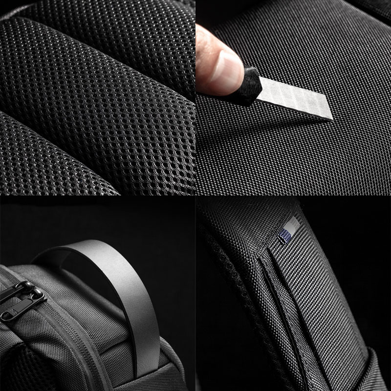 Men Oxford Password USB Charging Anti-theft Multi-Layers Waterproof Crossbody Bag Chest Bag Sling Bag
