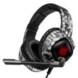 ONIKUMA K19 Gaming Headset Stereo Headset USB 3.5mm Over-head Headphone Noise Canceling Comfortable LED Lights Earphones With Adjustable Mic