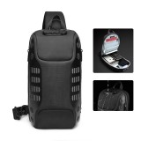 OZUKO Waterproof USB Sling Bag Headphone Jack Anti-theft Lock Shoulder Bag Chest Messenger Pack Camping Travel