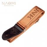 NAOMI Guitar Strap Adjustable Guitar Strap Belt For Guitar & Electric Guitar & Bass Guitar Parts Accessories Coffee Color New