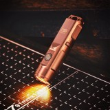 RovyVon Aurora A9 Copper 650LM USB Rechargeable LED Keychain Flashlight Compact EDC Mini Torch
