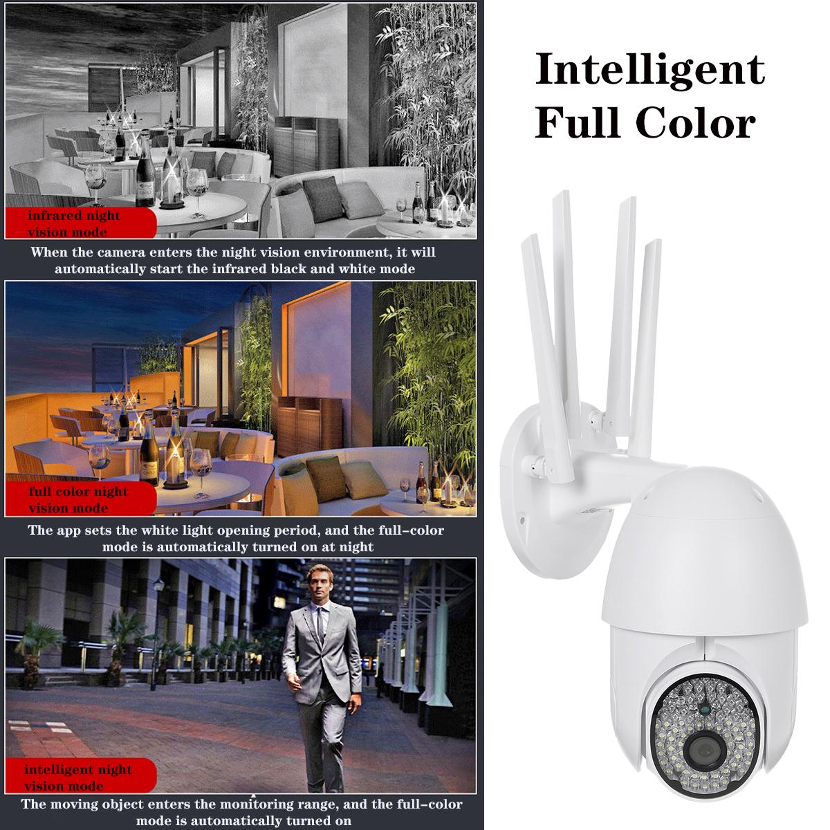Bakeey 88LEDs 1080P WIFI IP Camera Night Vision Two Way Intercom Wireless Outdoor CCTV HD PTZ Smart Home Security 360 IR Monitor