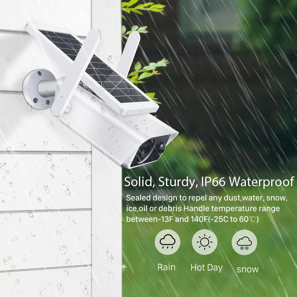BESDER Wifi Wireless IP Camera 2MP Outdoor Waterproof Solar Dome Camera PTZ Control Surveillance Camera