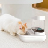 1.5L Automatic Pet Cat Water Feeding Fountain Double Bowl Dog Cats Feeder Transparent Bowls Drinking Fountain for Puppy Feeding Waterer