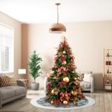 101CM Christmas Tree Skirt Carpet New Year Decorations Xmas Decoration Tree Skirt Ornaments Festive Party Supplies