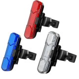 XANES 4Modes COB 30Lumen USB Rechargeable Bicycle Tail Light Multicolor Bike Warning Light Safe Riding Accessories