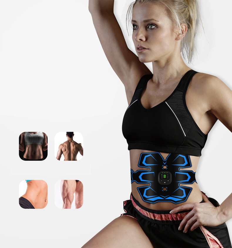 FOUAVRTEL Abdominal Muscle Stimulator Trainer ABS Training Gear Total Muscles Press Simulator Muscle Training Apparatus
