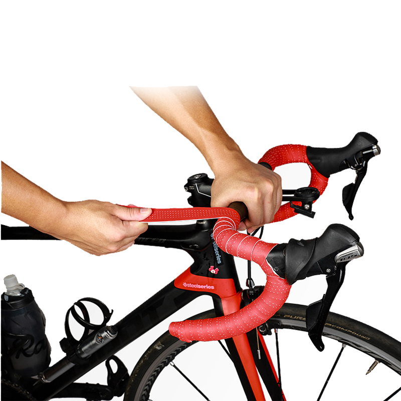 WEST BIKING 2PCS Soft Bicycle Handlebar Strap Anti-slip Wear-resistant EVA Bike Handlebar Tape Road Bike Grip Tape