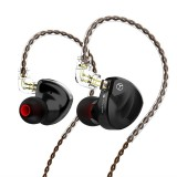 TRN BA8 In Ear Earphone Eight-Unit Balanced Armature Pure Moving Iron HiFi Fever Monitor Earphone Wheat Wire Control Changeable Line Headphone With Mic