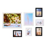 7 Pcs/set Photo Frames 5/7/10-inch Wall Hanging Family Memory Art Picture Photo Home Office Hotel Decoration