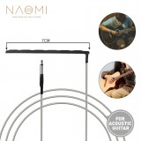 """NAOMI 10pcs Guitar Piezo Soft Saddle Transducer Braided Wire Pickup For 41""""/42"""" Acoustic Guitar"""