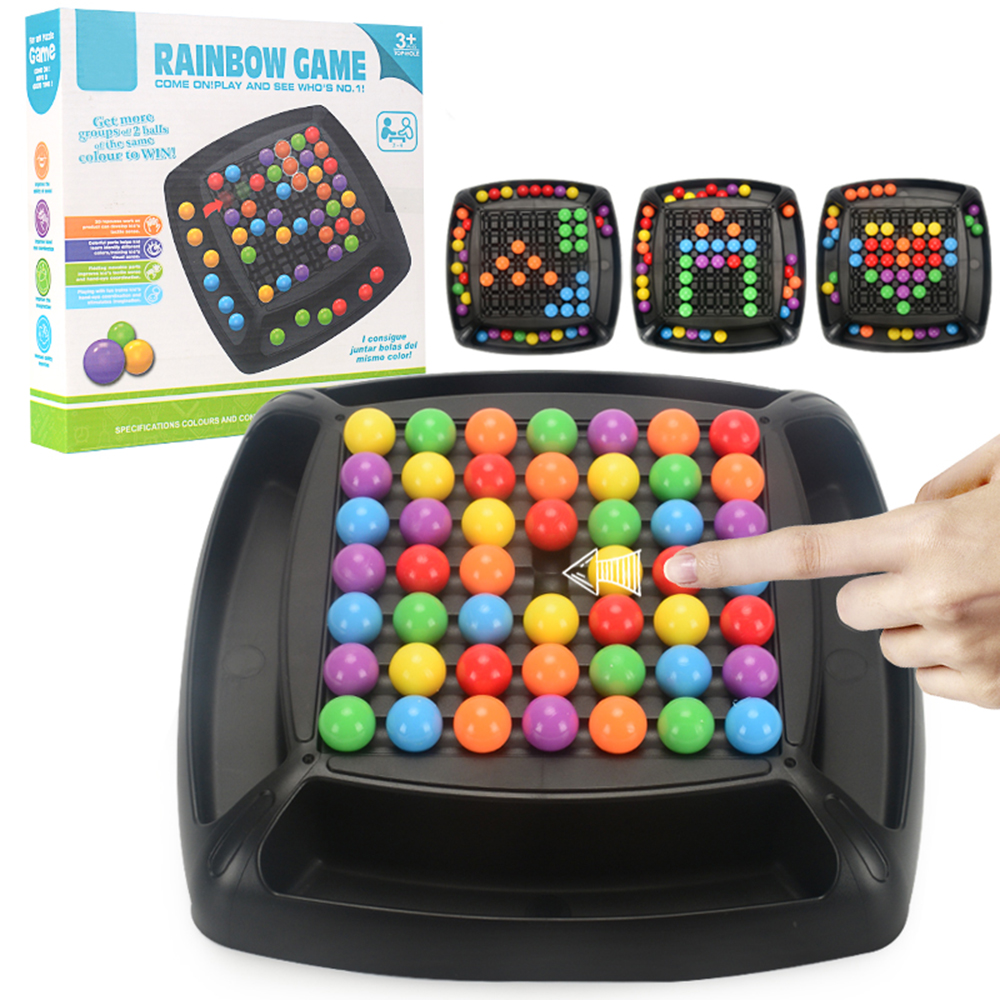 Desktop Butt-to-play Game Rainbow Ball Puzzle Toy for Chlidren Toys