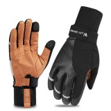 WEST BIKING Cycling Gloves Winter Plush Bike Gloves Biking Touch Screen Warm Glove Riding Portable Dustproof Cycling Accessories