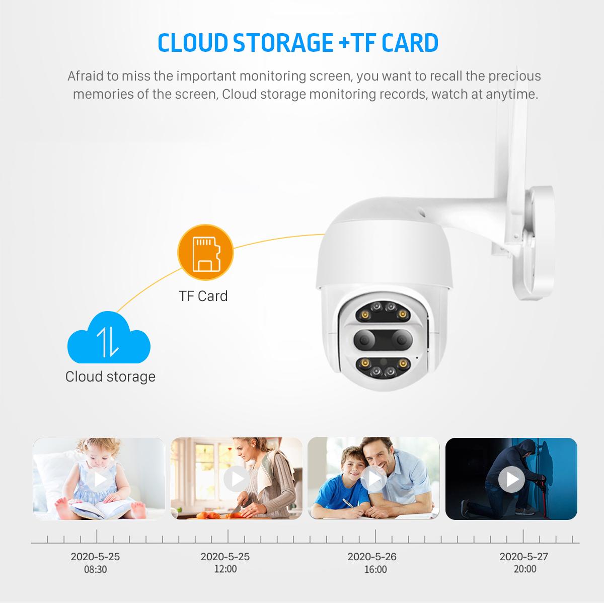 BESDER 1080P HD PTZ IP Camera Wifi Outdoor Auto Tracking 2MP CCTV Security Camera 4X Optical Zoom Alarm Dome Waterproof Wireless Camera