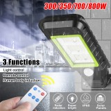 60/72/120/128LED COB Solar Power Street Light PIR Motion Sensor Wall Lamp + Remote Control