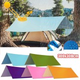 3x3m Multifunction Anit-UV Tent Tarp Rain Sun Shade Awning Shelter Hammock Picnic Mat for Camping Hiking Travel