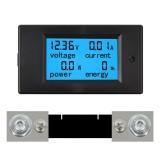 TSPZEM-051 DC 6.5-100V 0-100A LCD Display Digital Current Voltage Power Energy Meter Multimeter Ammeter Voltmeter with 100A Current Shunt