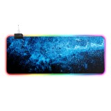 Starry Sky Mouse Pad RGB Non-Slip Thickened Keyboard Mouse Gaming Pad Desktop Mat