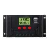 10-60A 12V/24V PWM LCD Solar Charger Controller Solar Panel Battery Dual USB