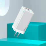 Baseus GaN2 Pro Quick Charger 2C+U 65W EU Travel Charger Adapter With Dual USB-C Data Cable Fast Charging For iPhone 12 12Pro Max Huawei P30 P40 Pro OnePlus 8Pro