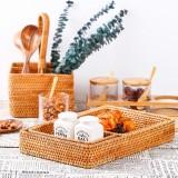 Bakeey Woven Storage Basket Woven Storage Basket Handmade Rattan Snacks Storage Basket