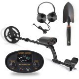 GT6100 Portable Easy Installation Underground Metal Detector High Sensitivity Jewelry Treasure Gold Metal Detecting Tool Finder with All Metal and Disc Operation Modes for Adults and Kids