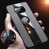 Bakeey for POCO X3 NFC Case with Magnetic Ring Bracket Stand Shockproof Breathable Cloth Fabric Protective Case