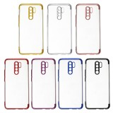 Bakeey for Xiaomi Redmi 9 Case Plating Shockproof Transparent Soft TPU Protective Case Back Cover with Lens Protector