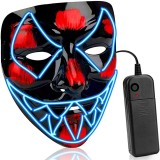 Halloween Luminous Mask LED Scary EL-Wire Mask Light Up Festival Cosplay Costume Supplies Party Mask