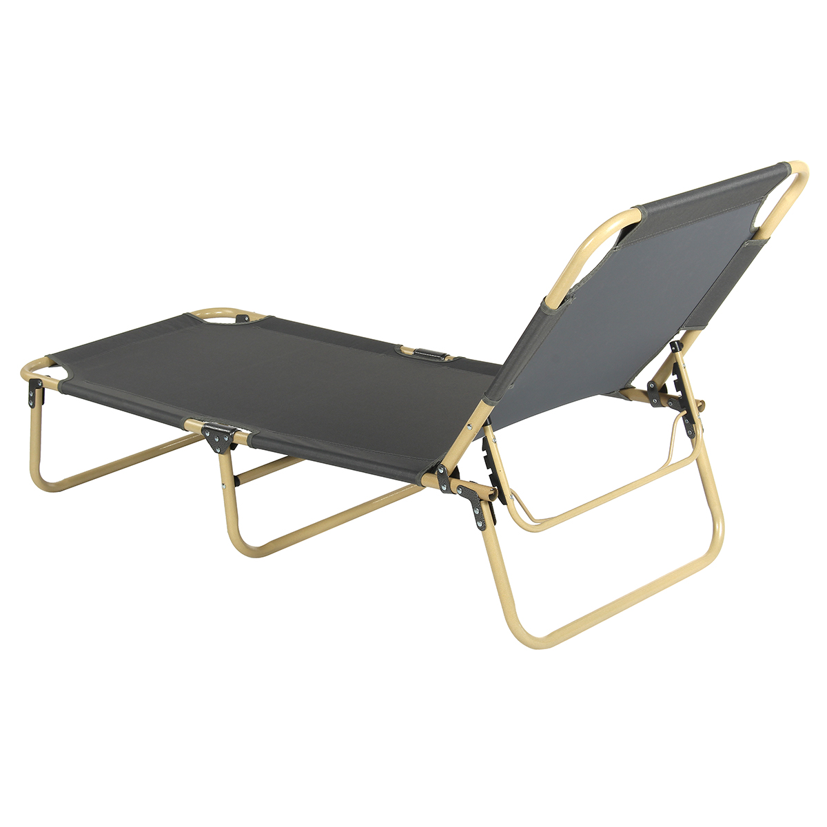 173x56x30cm Portable Fold up Guest Foldable Folding Bed Recliner Travel Outdoor