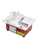 100-240V Mini Table Saws Multifunctional Lifting Electric Saw Wood Working DIY Bench Lathe Electric Polisher Grinder DIY Model Household Cutting Machine