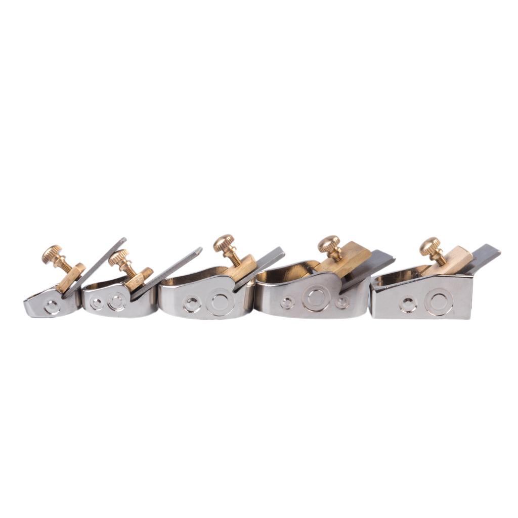 Naomi 5PCS Handmade Metal Brass Luthier Tool For Viola Plane Tool Violin Maker Copper Plane Silver Color