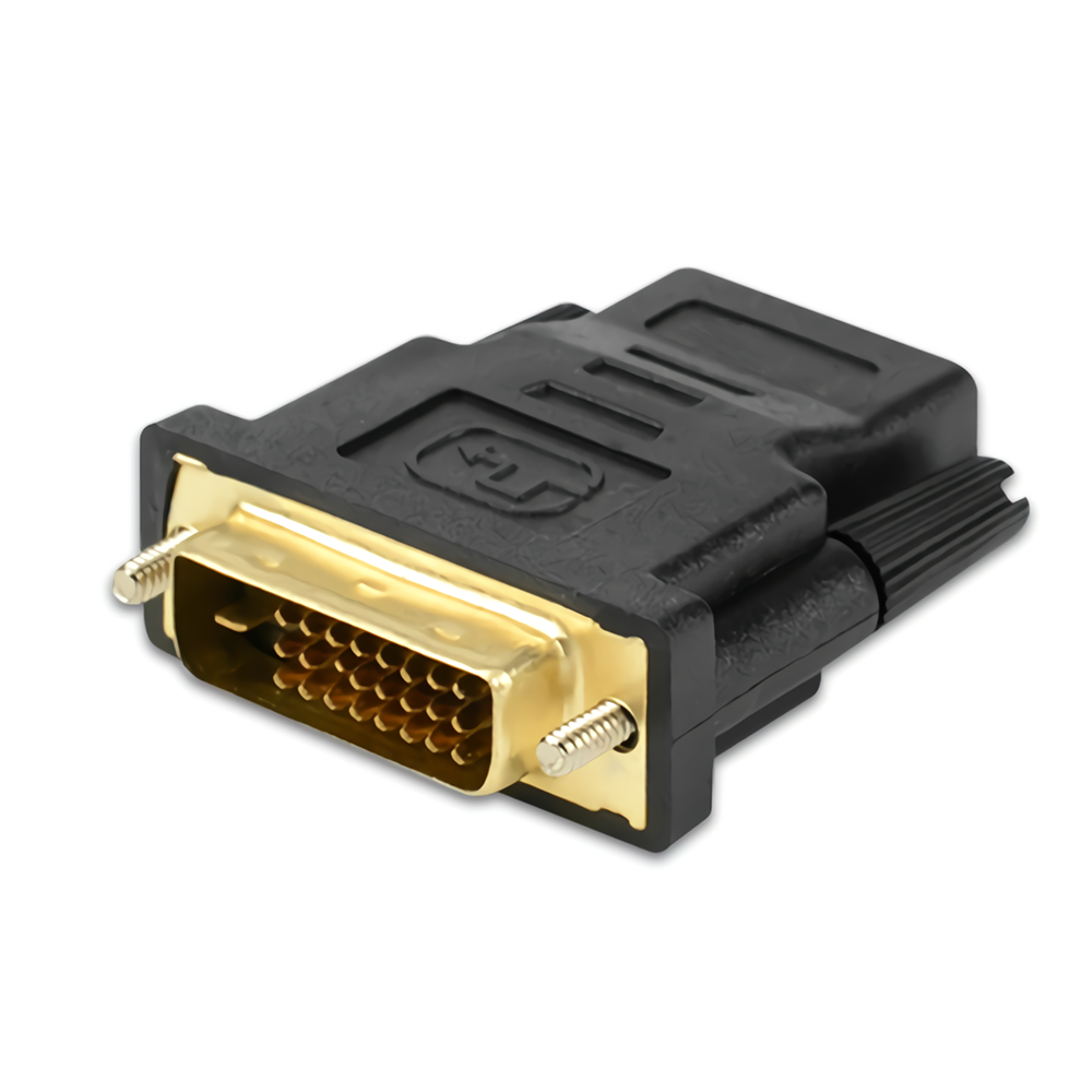 DVI Male 24+1 to HD Female Adapter Converter HD Conversion Head Connector 1080P with Audio for Computer TV Projector