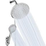 5Pcs/Set Shower Head 3 Spray Modes High Pressure Shower Head Bath Shower Set 9 Inch