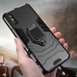 Bakeey Armor Shockproof Magnetic with 360 Rotation Finger Ring Holder Stand PC Protective Case for Xiaomi Redmi 9A