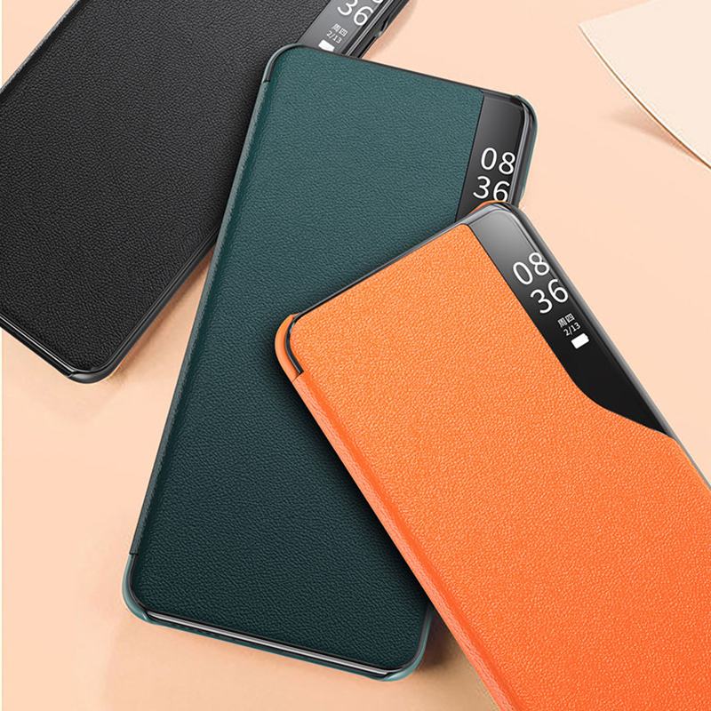 Bakeey Magnetic Flip Smart Sleep Window View Shockproof PU Leather Full Cover Protective Case for Samsung Galaxy S10 Plus / Galaxy S10+