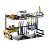 Sink Storage Rack 65/85CM Kitchen Over Sink Dish Drying Drain Shelf Dish Chopsticks Storage Holder Organizer