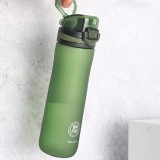 D04 600ml Sport Drinking Water Bottle BPA Free Leakproof Tritan Capacity Marker Water Cup for Camping Travel Fitness